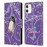 Head Case Designs Licenciado Oficialmente Animal Club International Penguin Pet Royalties Carcasa de Cuero Tipo Libro Compatible con Apple iPhone 12 Mini