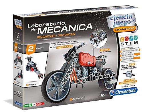 Clementoni - Laboratorio de Mecánica Juguete, Roadster + Dragster, Multicolor (55157)