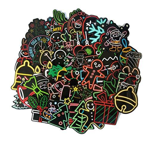 50 Stks Sticker Kerstman Doodle Diy Helm Pvc Trolley Koffer Bumper Laptop Muis Motorfiets Skateboard Bagage Gitaar