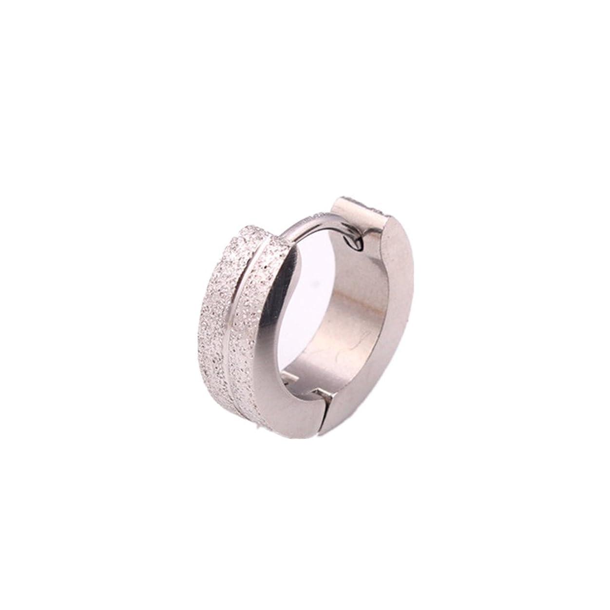 サイレントチェス謙虚なHonel シンプル チタン クリップ式 ピアス 単耳用 ファッション イヤリング ピアス 1個 銀色
