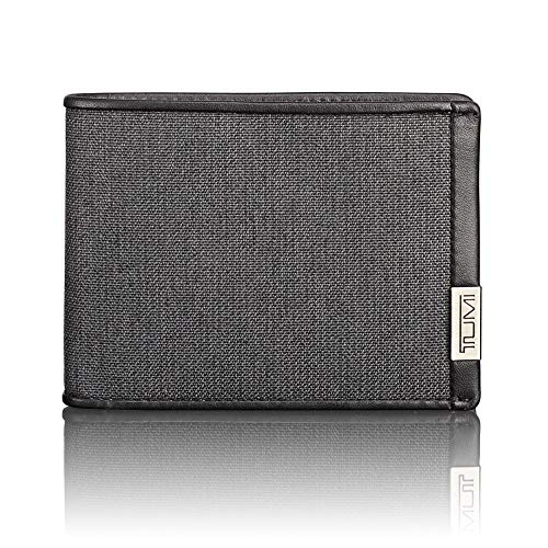 TUMI - Alpha Double Billfold Wallet with RFID ID Lock for Men - Anthracite/Black
