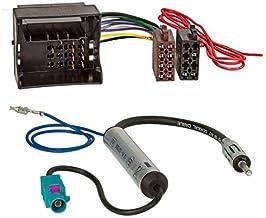Baseline Connect 2 Unidades, Fakra ISO DIN Adaptador Doble de Antena de Radio para Volkswagen y Audi