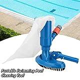 LU1999 Mini Pool Vacuum Cleaner,Portable Jet Pool Vacuum Underwater Cleaner,Handheld Pool Vacuum Cleaner Brush Tools,Pond Underwater Cleaner,for Leaves,Dirt and Sand & Soil (Blue)