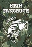 Mein Fangbuch: für Angler | Logbuch und Notizbuch für Petrijünger | A5 Format 120 Seiten | Geschenkidee