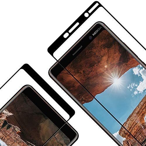 Vkaiy Pellicola Vetro Temperato per Nokia 7 Plus, Copertura Completa Pellicola Vetro Temperato, 9H Durezza, Senza Bolle et HD Trasparente Protezione Schermo per Nokia 7 Plus [2 Pezzi]