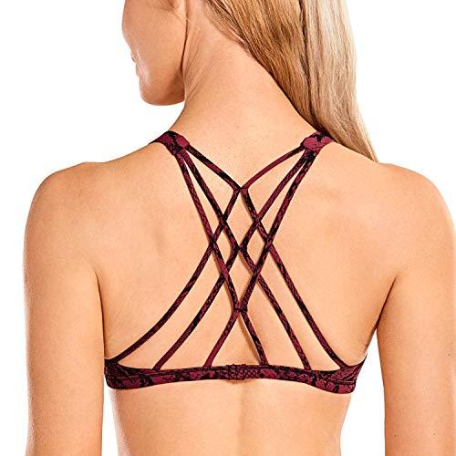 CRZ YOGA Sujetador Deportivo Yoga para Mujer Ejercicio Fitness Ropa Interior Serpiente roja XL
