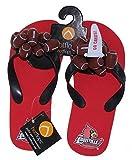 HotFlops New! Louisville Cardinals NCAA Ladies Football Flip Flops Beach Sandal Shoes - Adult Sizes (Medium (8-9))