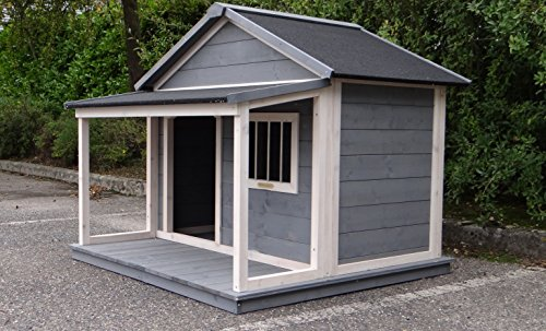Animalhouseshop.de Hundehütte Wooff Large 130x118x108cm - 6