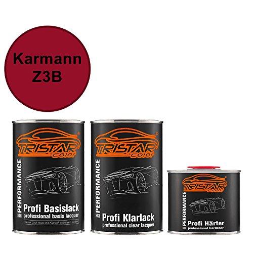 TRISTARcolor Autolack Set Dose spritzfertig für Karmann Z3B Dunkelrot Basislack + 2K Klarlack 2,5L