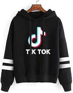 Men Women Long Sleeve Pullover Hoodie, Loose Sweatshirt Plus Size Sweater, Unisex Tik Tok 3D Printed Hooded Couple Wear,Black,XXS