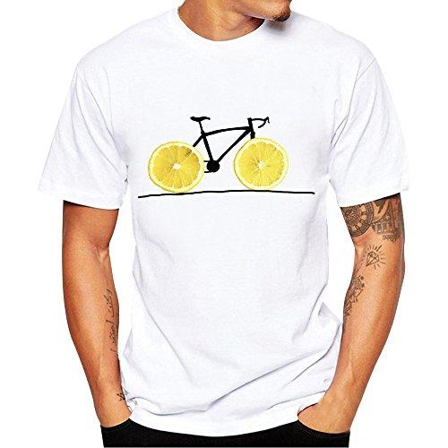 Camiseta de Manga Corta Verano T-Shirt para Hombre Moda Estampado Cuello Redondo Sueltos Casuales Transpirables Blusa Tops Deportivo Casual Jogging MMUJERY