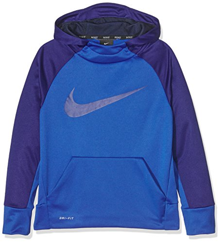 Nike B Nk Thrma Po, Felpa con Cappuccio Bambino, Game Royal/Deep Royal Blue, M