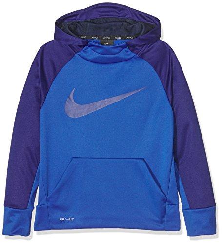 Nike B Nk Thrma Po, Felpa con Cappuccio Bambino, Game Royal/Deep Royal Blue, M