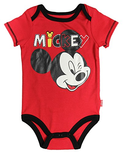 Disney Mono de Mickey Mouse Baby Boys (12M, rojo)