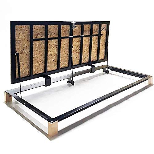 """Bodenluke schachtabdeckung 70 cm x 150 cm\""""H\"""" - mit OSB-Platte für Holz- und Parkettböden"""