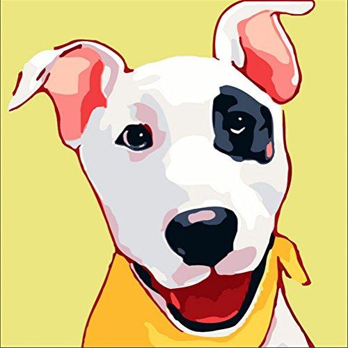 YEESAM ART Pintura por números para niños, cara de cebra colorida, 25 x 25 cm, con marco, listo para colgar