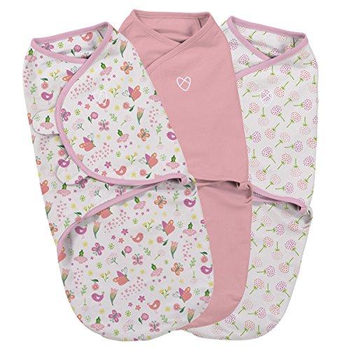 SwaddleMe ** 3er SparPack - Original Swaddle ** Pucksack/Schlafsack für unruhige Babys und Schreibabys (Small - Secret Garden)