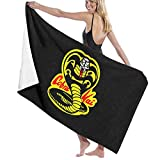 Ripepin Cobra Kai Beach Towel Sand Free Quick Dry Towel...