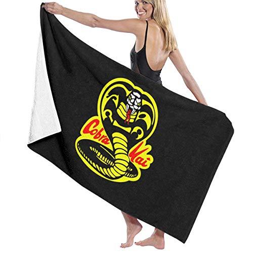 Ripepin Cobra Kai - Toalla de playa sin arena y secado rápido, toalla de microfibra para gimnasio y deportes de viaje