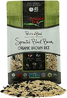 Floating Leaf Fine Foods - Organic Sprouted Black Bean and Brown Rice Prairie Blend - Case of 6 x 12oz - Plant Based, Non GMO + Gluten Free