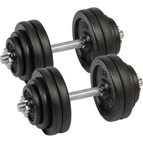 [リーディングエッジ] アイアンダンベル 60kgセット (片手30kg×2個) LE-IDB30 ダンベルセット