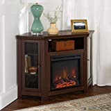 Lucas 48 inch Corner Fireplace TV Stand in Espresso