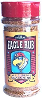 Single, 3 Pack or 12 Pack Eagle Rub All Purpose Seasoning, NO MSG NO Preservatives GLUTEN FREE KETO VEGAN Great Rub for BBQ Smoking and Barbecue grilling AirFryer Beef Pork Chicken Sea Food Vegetables