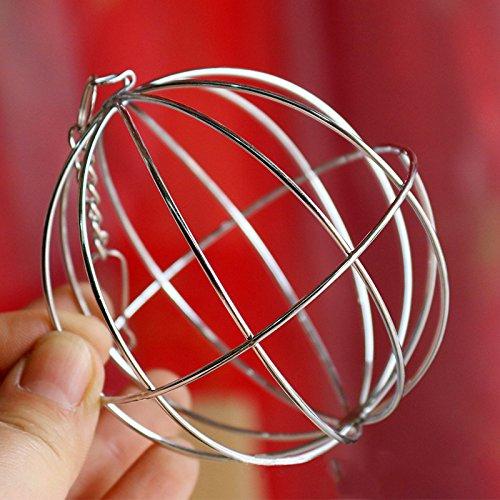Futterball Kugel Dispenser Spielzeug Hängend für Kaninchen Hamster Edelstahl , 8cm - 7