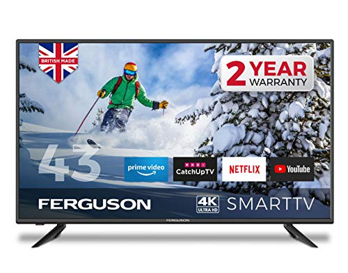 Ferguson F43RTS4K 43 inch Smart 4K Ultra HD LED TV with streaming apps and catch up TV built-in |...