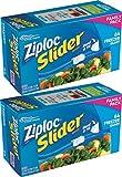 Ziploc Slider Stand & Fill Freezer Bags, Quart, 128 Count