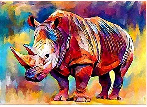 znwrr Papier Puzzle Puzzle 1000 Stück, Adult Rhino Adult Puzzle, Freizeit Unterhaltung Lernspielzeug Wohnkultur 38x26 cm