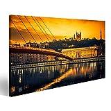 bilderfelix® Bild auf Leinwand Ansicht von Saone-Fluss bei