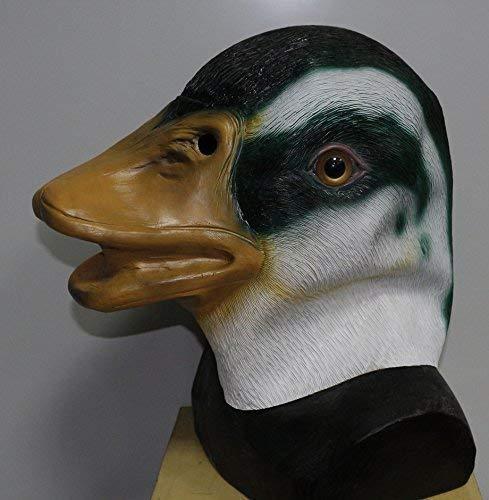 De Rubber Plantation TM 619219293594 Mallard Eend Latex Masker Vogel Dier Halloween Huisdier Fancy Jurk Kostuum Accessoire, Unisex-Volwassene, Een Maat
