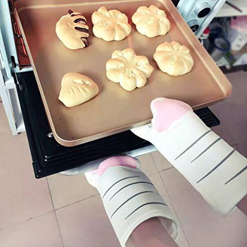 Abcidubxc Handschuh, wärmeisolierend, flach, für Backofen oder Mikrowelle, Form Pfoten für Katzen, 3D-Zeichen, Baumwolle, integrierte Wärmeisolierung B
