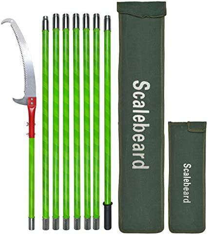 Scalebeard 26 Foot Tree Trimmer Pole Manual Pruner Cutter Set Extension Cut Tree Branch Garden product image