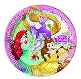 Folat B.V. 86677 Disney Princess Dreaming - Platos de papel (Ø23 cm), 8 piezas, color rosa