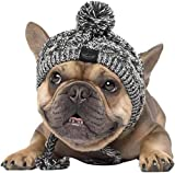 Genericb Winter Soft Dog Hats, Warm Pet Dog Knitted Hat, Windproof Knitting French Bulldog Hat for Small Medium Dogs (Large)
