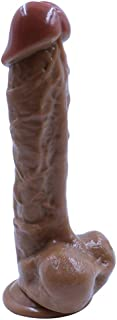 Full 9 in Realistic and Soft 100% Waterproof Big Size Toy - Brown - Youeryuanda1.2