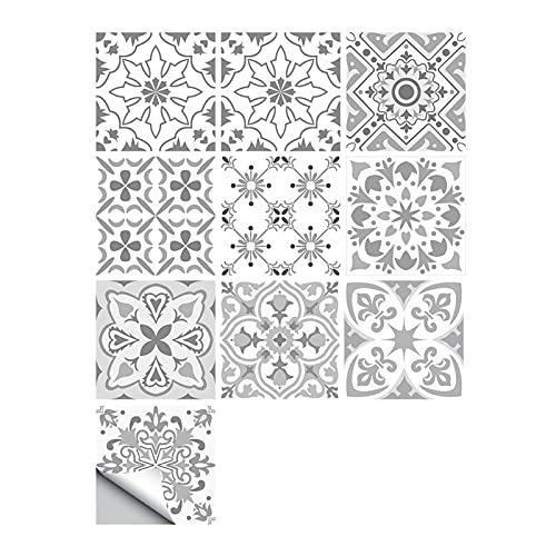 Vinilos para azulejos de pared 10 unids/set Azulejos duros Pequeño Pequeño Pegatinas de Pared Cocina Cuarto de baño Decoración Fondo de Pantalla Peel Stick Shiny Superficie Art Mural Antifouling y a