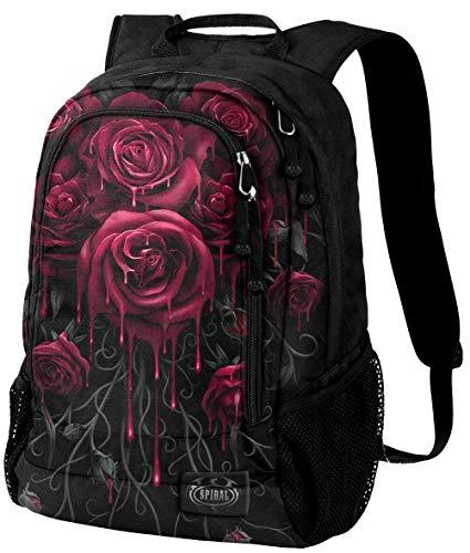 Spiral Blood Rose Unisex Rucksack schwarz, Polyester, Undefiniert Everyday Goth, Gothic, Horror, Rockwear