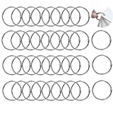 100 PCS Binding Rings, Binding Metal Rings, Book Rings, Metal Ring Articulate Rings For Notebook Scrapbooking Book Binder (25mm)