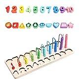 Rubyu Bloques de madera de rompecabezas multifuncionales Montessori, juguete...