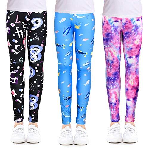 OioTuyi 2 Stück Kreative Mädchen Leggings Knöchellange Hosen Drucken Blumen Gymnastik Kleidung Hosen#ZGHI_65