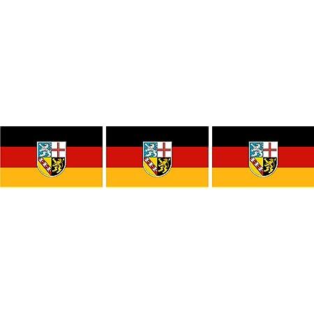 Etaia 2 5x4 Cm 3x Mini Aufkleber Fahne Flagge Vom Saarland Kleine Länder Sticker Auto Motorrad Fahrrad Bike Auto