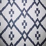 Staab's Beschichtete Baumwolle Marokko Raute grau weiß