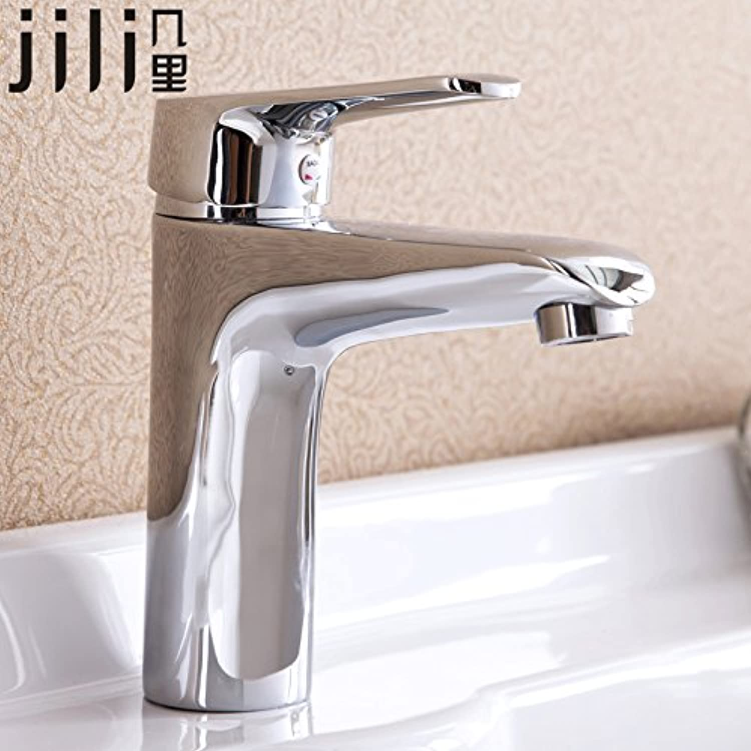 SHLONG Tap A Few Miles of Copper Single Hole Table Above Basin Faucet Basin Hot and Cold Water Faucet