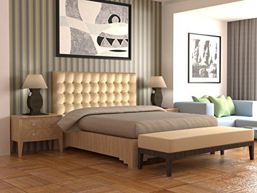 LA WEB DEL COLCHON - Cabecero tapizado Manhattan para Cama de 135 (145 x 120 cms) Beige | Cama Juvenil | Cama Matrimonio | Cabezal Cama |