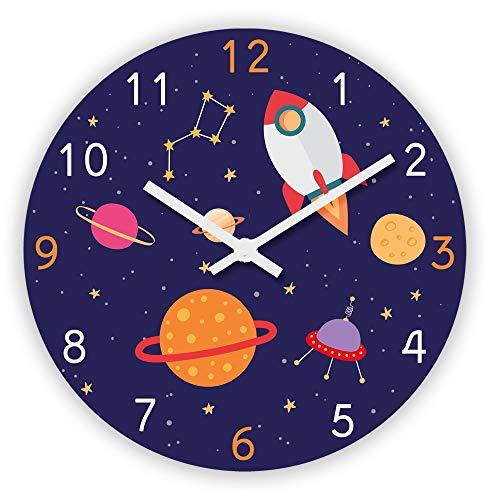 STC – Reloj de péndulo decorativo para niño cohete del espacio