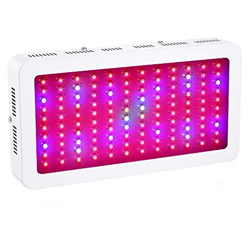 SMWZFDD LED Pflanzenlampe, Vollspektrum Pflanzenlicht LEDs für Innen Hydroponik Set Gewächshaus Keimung Veg Grow LED Lampe,1200w