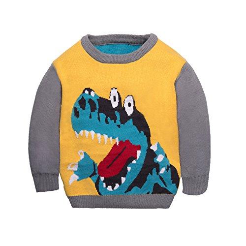Garsumiss Bambini Ragazzi Maglioni Felpe Pullover Dinosauro Maglieria Maglia Unisex Bambino Pullover Costume di Natale